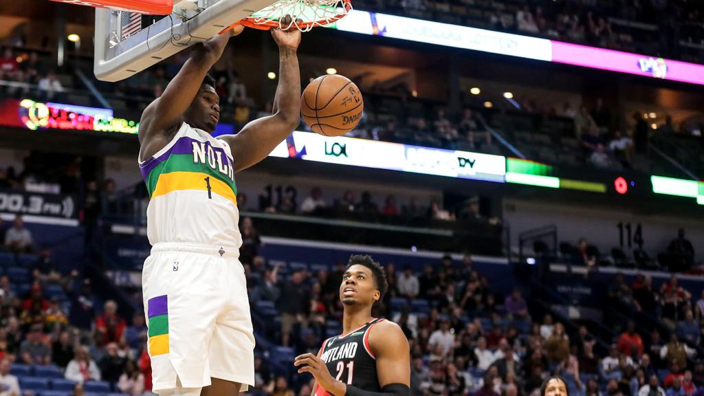 Exhibiciones de Zion Williamson y James Harden en la NBA