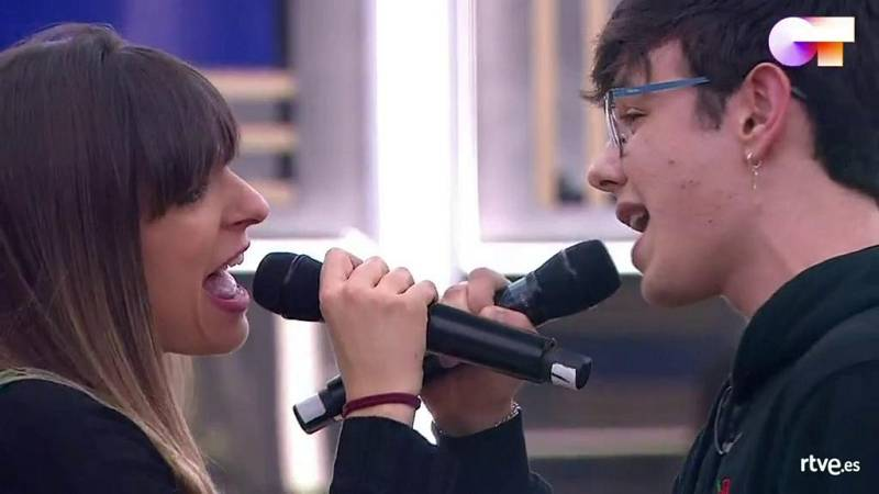 Flavio y Maialen cantan Perfect Day de Lou Reed en el primer pase de micros de la Gala 5 de Operación Triunfo 2020