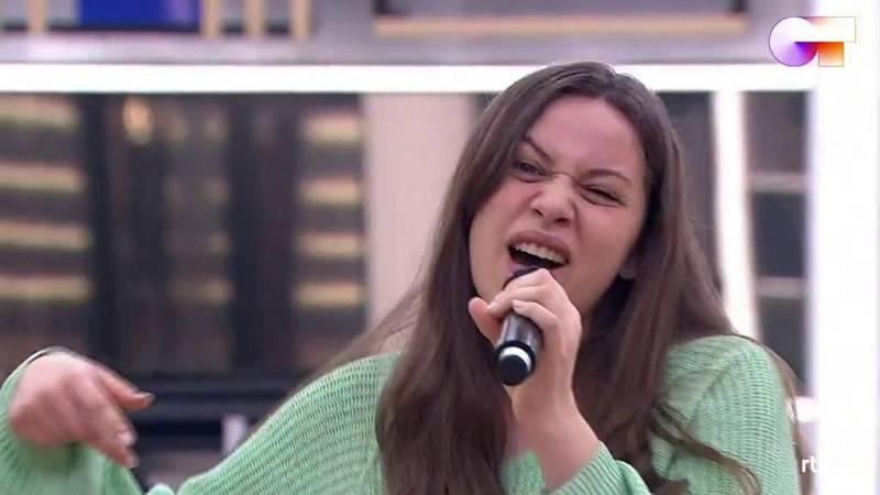 Eva canta I Follow Rivers de Lykke Li en el primer pase de micros de la Gala 5 de Operación Triunfo 2020