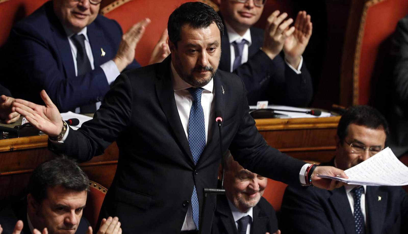 El Senado autoriza que Salvini sea juzgado por su política migratoria cuando era ministro del Interior