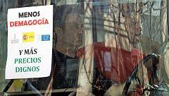 Cortes en la A-45 en Lucena y en el centro de Valencia por las protestas de los agricultores