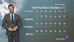 El tiempo de Extremadura - 14/02/20
