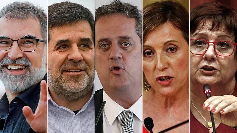 Las cárceles catalanas aprueban permisos de salida para cinco de los nueve presos condenados por el 'procés'