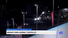 Queralt Castellet se cuelga el bronce en halfpipe en la Copa del Mundo de snowboard