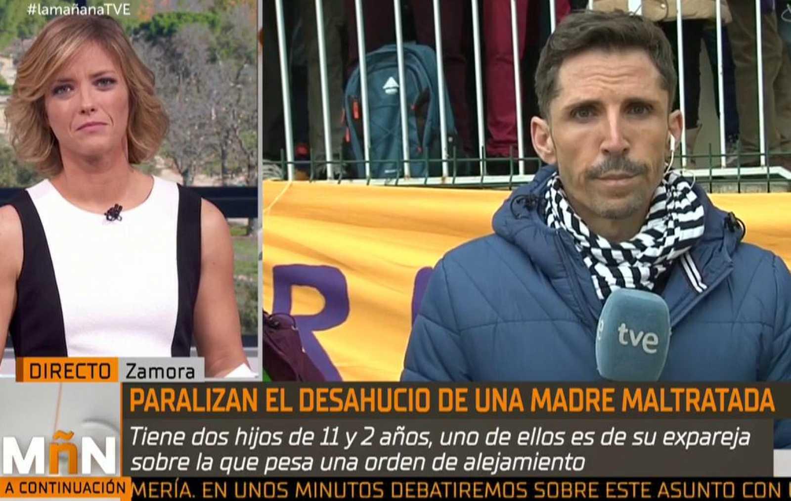 """Paralizado el desahucio de """"Maria"""" una madre desempleada y maltratada por su expareja"""