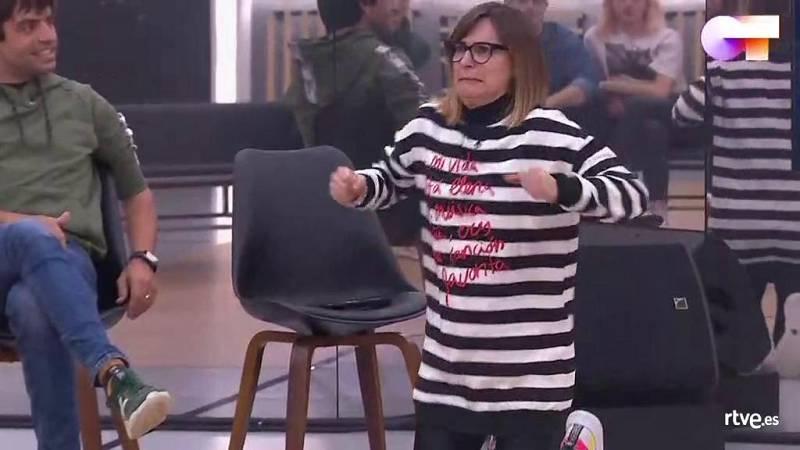 """Noemí imita a Ivan Labanda durante el repaso de la """"Gala 5"""" de Operación Triunfo 2020"""