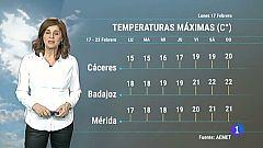 El tiempo en Extremadura - 17/02/20