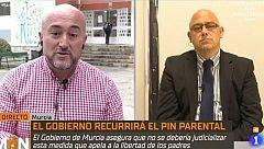La Mañana - Debate sobre la solicutud del Gobierno para suspender el pin parental en Murcia