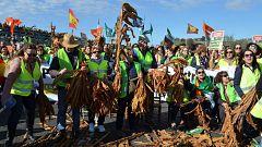 Los agricultores reclaman precios justos en Extremadura y Almería