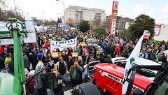Manifestaciones de agricultores en Granada, Pamplona y A Coruña