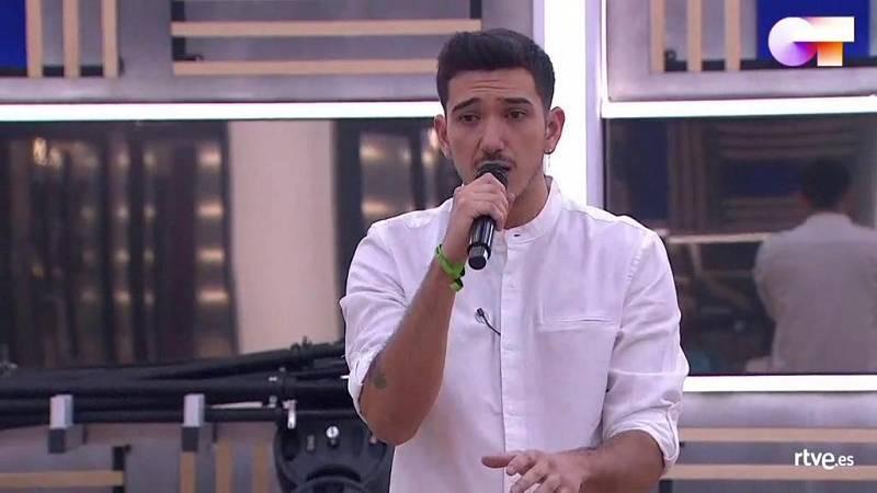 """Bruno canta """"Lately"""", de Stevie Wonder, en el primer pase de micros de la Gala 6 de Operación Triunfo 2020"""