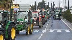 Agricultores y ganaderos colapsan las calles de Granada, Pamplona y A Coruña en defensa del campo