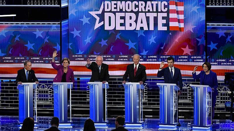 Los ataques a Michael Bloomberg protagonizan el debate demócrata en Nevada