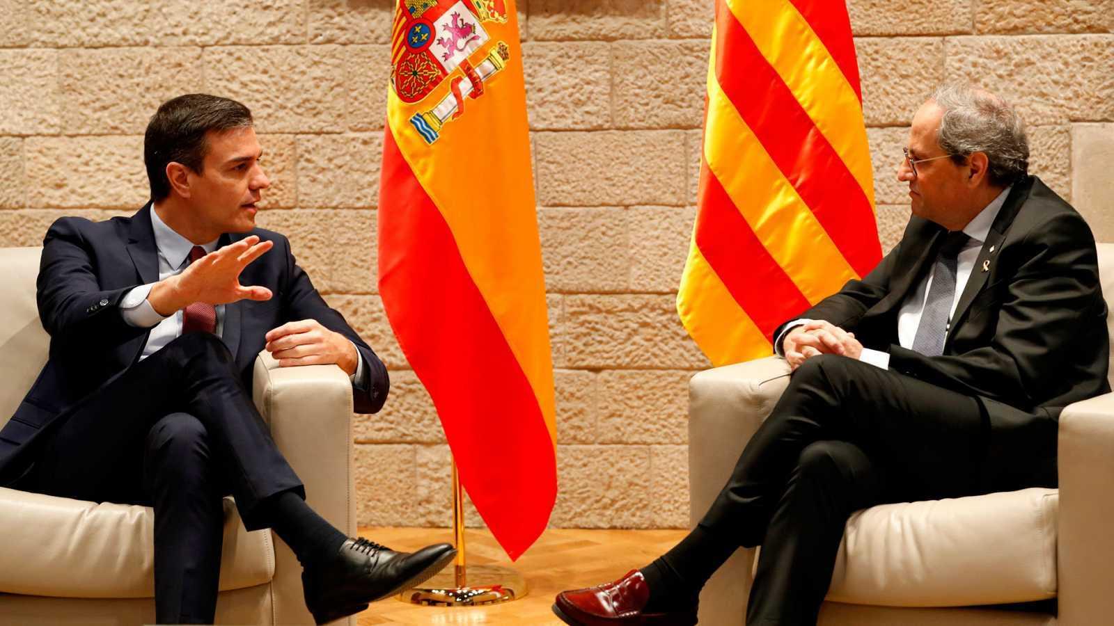 Sánchez acepta la propuesta de Torra y fija la mesa de diálogo el 26 de febrero