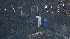 Continúa la búsqueda de los dos desaparecidos en el vertedero de Zaldívar mientras analizan la calidad del aire