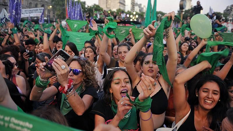 Argentina celebra el primer 'pañuelazo' verde del 2020 para reivindicar el aborto legal