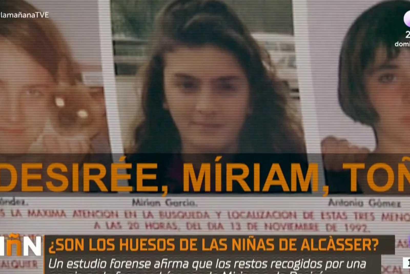 """La Mañana - Nuevo giro en el caso de las niñas de Alcàsser:  """"No hay otra hipótesis que demuestre que esos huesos no pe"""