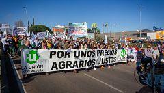 Los agricultores protestan en la Mancha, Extremadura, Murcia y Cataluña