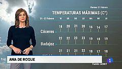 El tiempo en Extremadura - 21/02/20