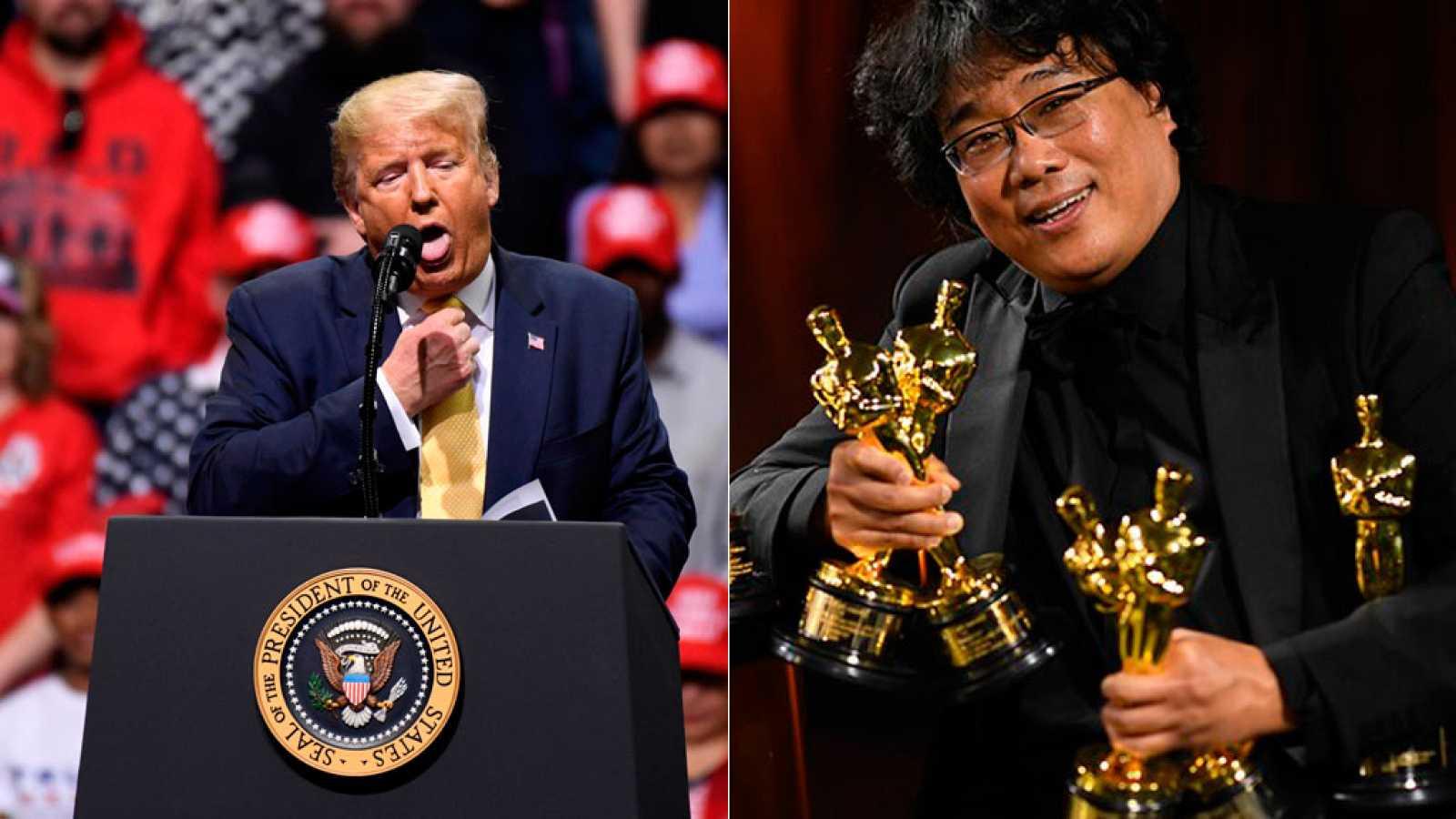 Donald Trump critica a la Academia de Cine por premiar a la película coreana 'Parásitos'