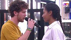 """OT 2020 - Jesús y Nia cantan """"La última noche"""" en el segundo pase de micros de la Gala 6 de Operación Triunfo"""