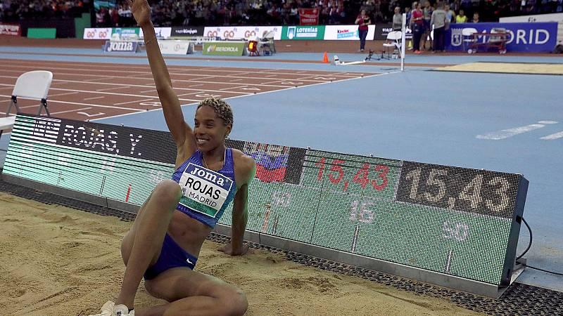 Yulimar Rojas bate el récord del mundo en triple salto con 15,43 metros