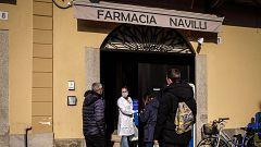 Calles desiertas y colas en los supermercados de Codogno, epicentro del coronavirus en Italia