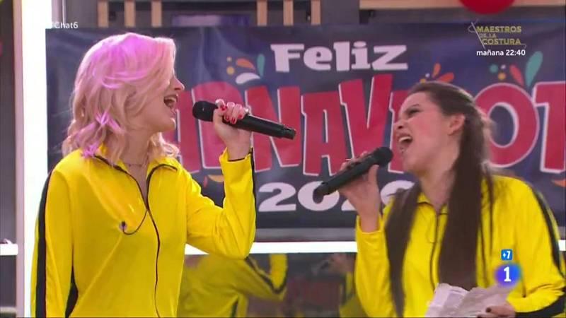 """Samantha y Eva cantan """"Por el amor de esa mujer"""" en El Chat de Operación Triunfo"""