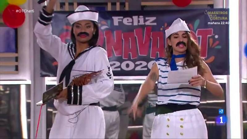 """Nia y Anajú cantan """"Cuando zarpa el amor"""" en El Chat de Operación Triunfo"""