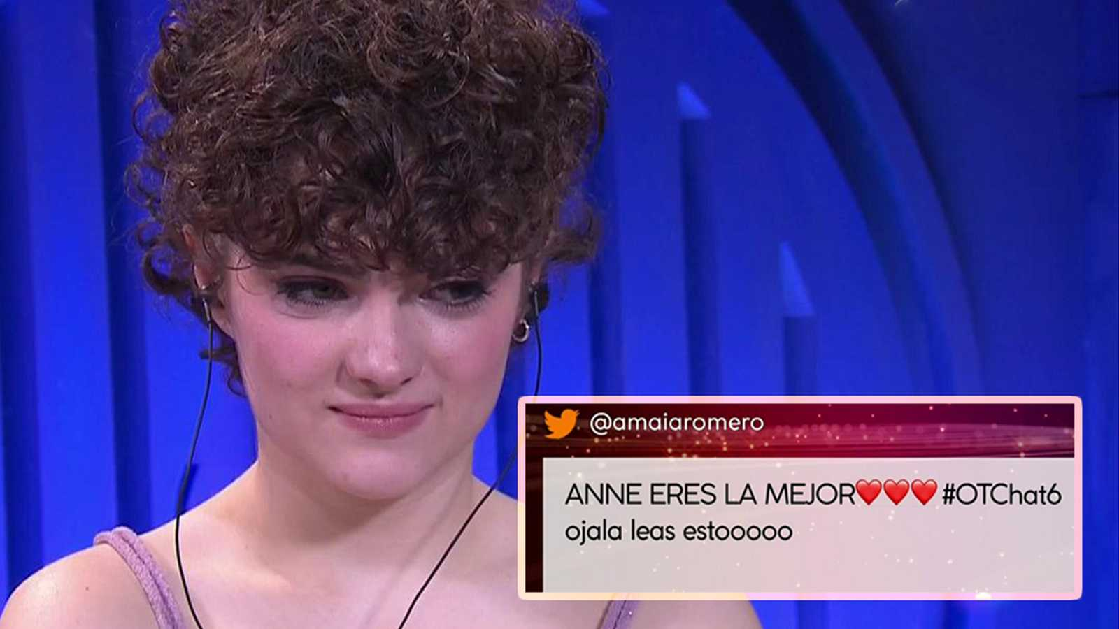 Anne recibe el apoyo de Amaia Romero y Gèrard en El Chat