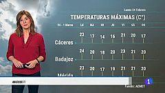 El tiempo en Extremadura - 24/02/20