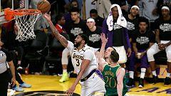 Los Lakers vencen a los Celtics mientras los Raptors arrollan a los Pacers