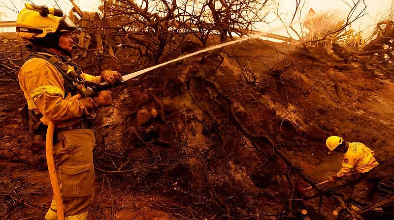 El incendio de Tenerife, bajo control