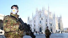 El coronavirus altera el habitual bullicio de Milán, que ha cerrado las puertas de su 'Duomo'