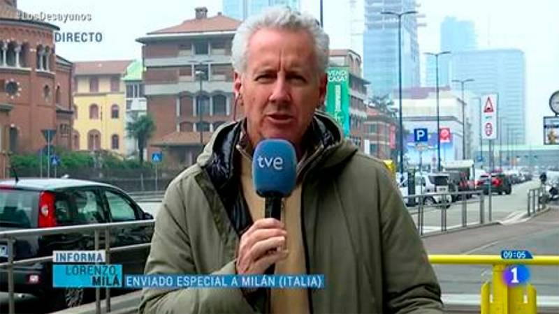 """Lorenzo Milá (TVE), desde Italia hablando del coronavirus: """"Se extiende más el alarmismo que los datos"""""""