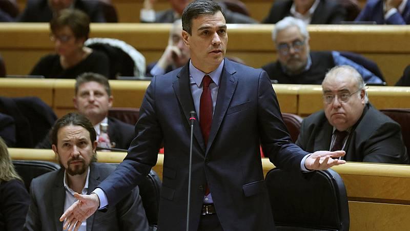 Sánchez insiste en el Senado en que Ábalos se reunión con Delcy Rodríguez para evitar una crisis diplomática con Venezuela