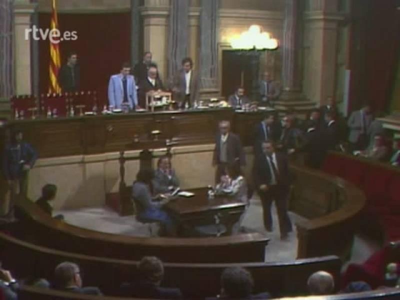 Arxiu TVE Catalunya - Heribert Barrera, president del Parlament, elecció dels vicepresidents i discurs de Barrera al ple