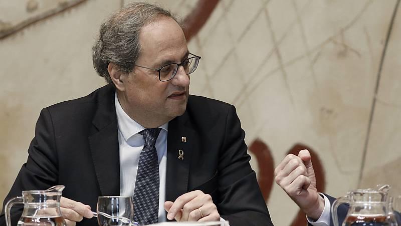 Torra anuncia que el Govern defenderá la autodeterminación y la amnistía en la primera reunión de la mesa entre gobiernos