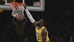 LeBron James logra su máximo registro anotador esta temporada con 40 puntos
