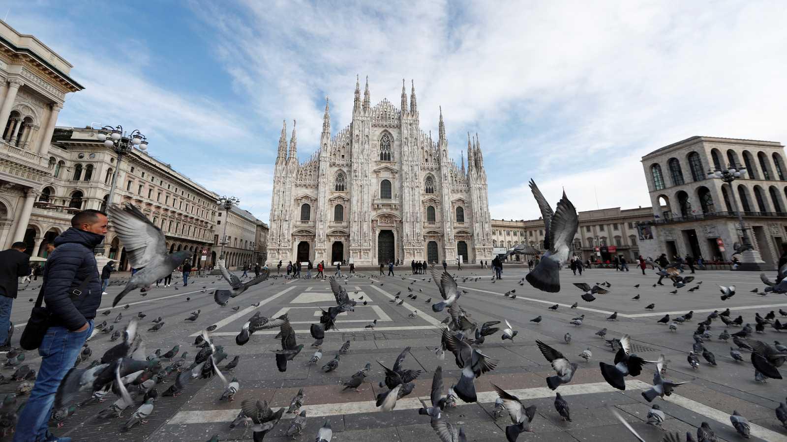 Coronavirus en Italia: El tránsito en tren de Milán a Roma