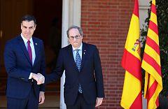 Sánchez y Torra abren la primera mesa de diálogo entre el Gobierno y la Generalitat de Cataluña