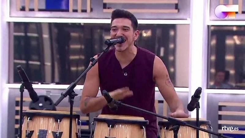 """Bruno canta """"Llegué hasta ti"""", de Muerdo, en el primer pase de micros de la Gala 7 de Operación Triunfo 2020"""