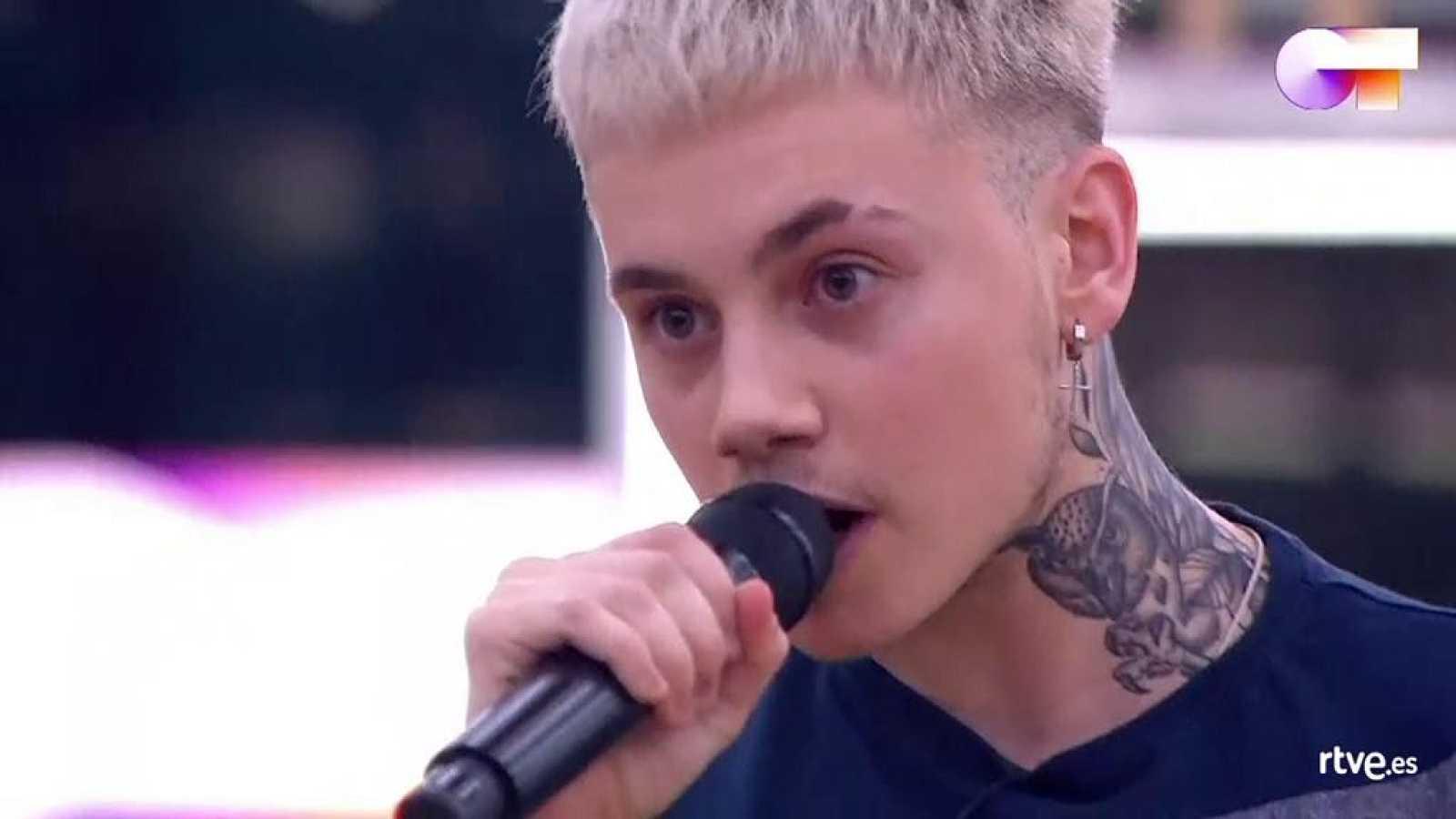 """Hugo canta """"Genius"""", de Sia, Diplo y Labrinth, en el primer pase de micros de la Gala 7 de Operación Triunfo 2020"""