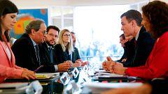 Torra señala discrepancias con el Gobierno español sobre el conflicto catalán
