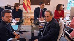 Sánchez y Torra acuerdan reuniones mensuales de la mesa de diálogo entre Madrid y Barcelona