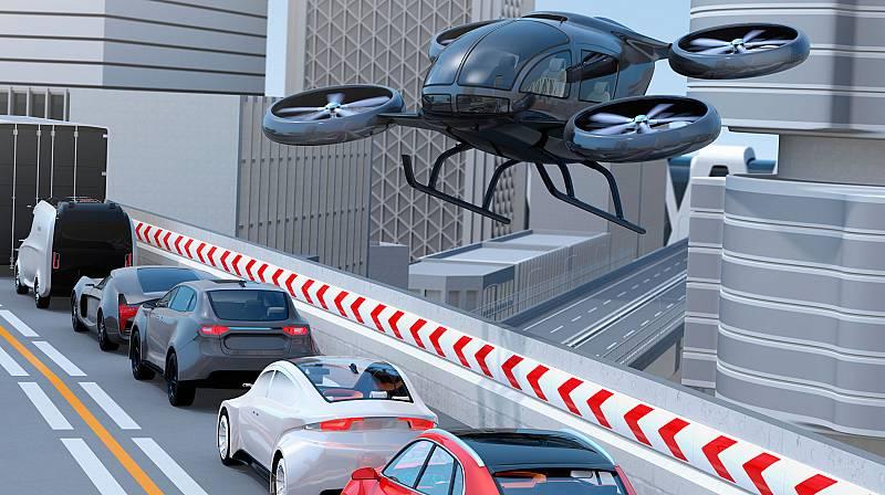 Coches voladores en el aeropuerto de Jaén