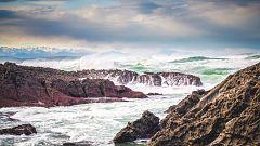 Intervalos de viento fuerte en los litorales de Galicia y del Cantábrico
