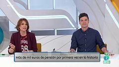 Más de 1000 € de pensión media en España