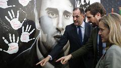 """Casado presenta a Iturgáiz en Ermua destacando la """"generosidad"""" de PP y Cs para unir al constitucionalismo"""