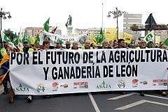 """Miles de agricultores colapsan el centro de León y Santander para reivindicar """"precios justos"""""""